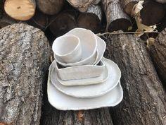 Handmade dinnerware place setting dinnerware set wedding | Etsy White Dinnerware, Dinnerware Sets, Ceramic Shop, Ceramic Bowls, White Dinner Plates, Great Wedding Gifts, Elegant Dining, Handmade Pottery, Plate Sets