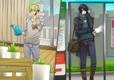 naruto and sasuke modern times.