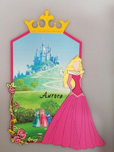 Aurora prima doll tag - Disney princess - Sleeping Beauty - pink - fairy godmothers