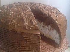 Mascarpone-banánovo-nutellová torta Banana And Nutella Cake, Russian Recipes, Risotto, Food And Drink, Dairy, Birthday Cake, Sweets, Cheesecake, Cakes