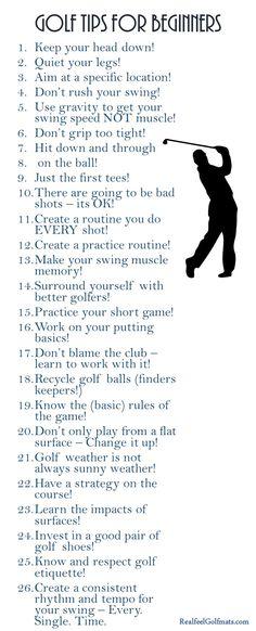 Golf Tips for Beginners!