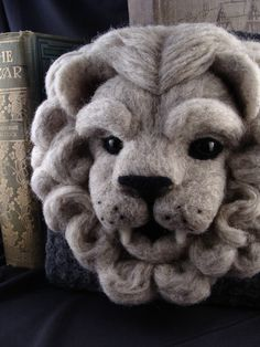 Needle+Felted+Lion+Gargoyle+Soft+Sculpture+by+by+McBrideHouse,+$145.00