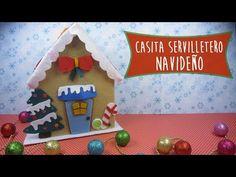 CASITAS DE NAVIDAD con CARTÓN y GOMA EVA (FOAMY) | Manualidades aPasos - YouTube