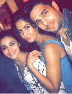 Alia Bhatt with Katrina Kaif and Sidarth Malhotra at Karan Johar's 45th birthday bash