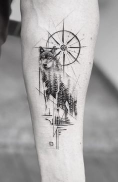 60 Amazing Wolf Tattoos – The Best You'll Ever See – Page 6 of 6 – Back Tattoos Small Tattoos Men, Wolf Tattoos For Women, Cute Tattoos, Tatoos Men, Best Tattoos For Men, Awesome Tattoos, Lone Wolf Tattoo, Wolf Tattoo Sleeve, Compass Tattoo