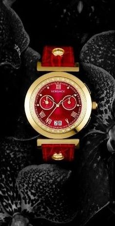 73e583e4cd60 Versace red watch Elegant Watches