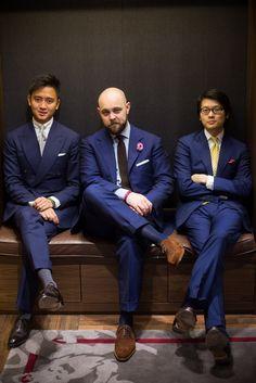 Blue Suits Style.