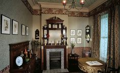 A drawing room in 1890 photographed by Chris Ridley