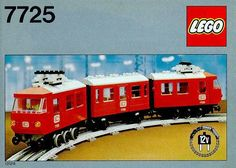 A look back at Lego electric trains sets in the including 7725 passenger train, 7740 electric inter-city, 7750 steam locomotive. Classic Lego, Classic Toys, Electric Train Sets, Trains For Sale, Lego Trains, Vintage Lego, Buy Lego, Great Hobbies, Train Layouts