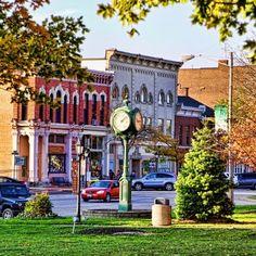 October evening in Chardon Ohio.  michael loved the Chardon Baseball Card Shop!