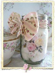 DIY:: Shabby Altered Mason Jar