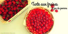 Tarte originale aux fraises et au jus de pomme