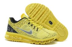 huge selection of 038e1 6a715 Nike Air Max 2013 Fantasy Yellow Grey Men s shoes New Nike Air, Cheap Nike