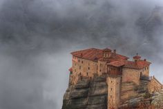 Roussanou is the most fotogenic of all the monasteries in Meteora!