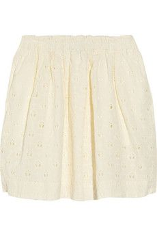 ++ broderie anglaise cotton skirt