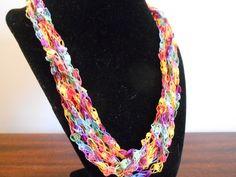 Trellis Necklace / Crochet Necklace Item por CreationsbyJoyceAnn