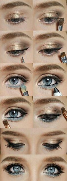 Dos colores de sombra que vayan con tu color de ojos y pelo, y en pocos pasos lograrás un estilo muy personal.