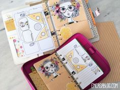 Inserts Semanal, com layout caixa. Nos tamanhos A5 e Personal. Download Planner, Project Life Cards, Journalling, Filofax, Free Printables, Bullet Journal, Layout, Scrapbook, Paper