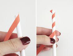 diy striped straws | lavender's blue designs