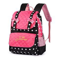 Fashion Girls Backpack for Kids Elementary School Bag Girly Bookbag  Children 17 Inch Nylon Heart Print (Purple   Blue)  fa301c26cce07