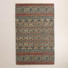 Sedona Sage and Cement Etched Area Rug | World Market