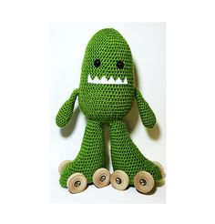 Crochet Skate Monster Green Sparkle by SkateMonsters on Etsy #skatemonster #skatemonsters #rollerskate #rollerderby #crochet #amigurumi #derby #skate #monster #txrd #chicksinbowls #rollerderbyworldcup #knit #knitted #crocheted #plush #derbydoll