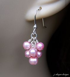 Pink Blush Freshwater Pearl Sterling Silver Cluster