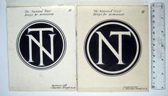 National Trust Logo Artwork 1920s | MacDonald Gill Circle Logo Design, Circle Logos, Graphic Design, Kreis Logo Design, Trust Logo, Crossfit Clothes, Logo Google, National Trust, Buick Logo