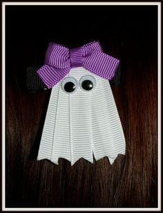 Adorable hair ribbon and easy to make