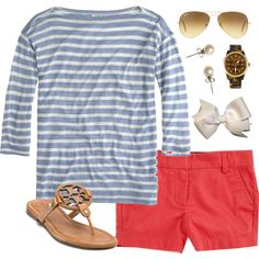 """""""Nantucket Red"""" by classically-preppy on Polyvore"""