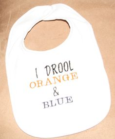 I Drool Orange and Blue AUBURN Tigers Baby by sugarshakerboutique, $4.25