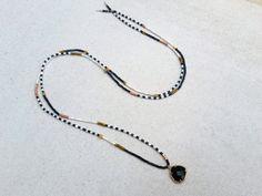 hippie necklace boho necklace long bead necklace setting