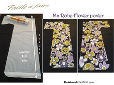 Happy Diy : ma robe flower power, chic et facile à faire Bettinael.Passion.Couture.Made in france