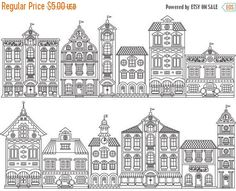 Doodle House Clipart House vector Art Home House City Adult Coloring, Coloring Books, Coloring Pages, House Colouring Pages, Haus Vektor, House Doodle, House Illustration, Clip Art, Art Graphique