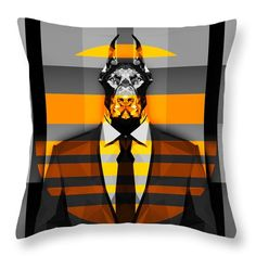 Doberman Throw Pillow Living Room Pillows Bed Room Pillows Cool Pillow Designs by Filip Aleksandrov