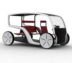 Tuk Tuk of the future concept design from Stylepark. Electric Transportation, Transportation Design, Electric Tricycle, Electric Cars, Wood Bike, Solar Car, City Car, Pedal Cars, Bike Design