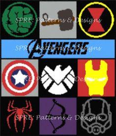 SPRE: Patterns and Design Avengers Crochet blanket graph pattern