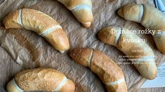 Kváskovanie Archives - Page 2 of 4 - Nelkafood Croissants, Bread Recipes, Baked Goods, Bakery, Food And Drink, Youtube, Watch, Clock