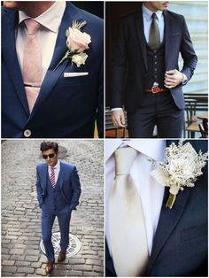 Tipos de Gravata para o Noivo arrasar no casamento! | http://marionstclaire.com/tipos-de-gravata-noivo-casamento Gravata Tradicional Casamento, Traditional Wedding Tie, Ties for Grooms, Tie with blue suit, Terno Azul Casamento
