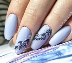 from { { FeedTitle} }{ { EntryUrl} } Fall Nail Art Designs, Colorful Nail Designs, Silver Nails, Purple Nails, Nail Manicure, Gel Nails, Special Nails, Nagellack Design, Pretty Nail Art
