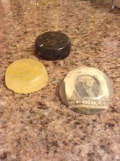Handmade soap! Put loose tea, money, fragrant oils, and more!