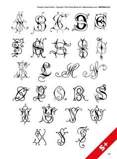 Darling Make Alphabet Friendship Bracelets Ideas. Wonderful Make Alphabet Friendship Bracelets Ideas. Graffiti Lettering Fonts, Tattoo Lettering Fonts, Doodle Lettering, Creative Lettering, Monogram Tattoo, Initial Tattoo, Monogram Letters, Tattoo Initials, Tattoo Alphabet