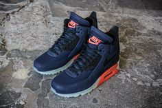 Nike Air Max 90 Sneakerboot Ice – Midnight Navy / Bright Crimson | Air 23