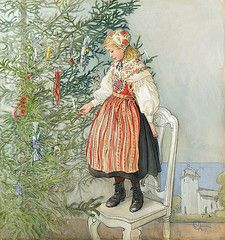 "Carl Larsson (Swedish, 1853-1919), ""Decorating the tree"""