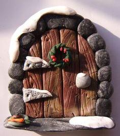 Winter fairy door