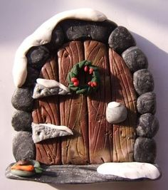Winter fairy door