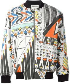 Multi colored Print Bomber Jacket by Henrik Vibskov. Buy for $665 from farfetch.com