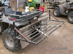 atv implements - Google Search Atv Racks, Compact Tractor Attachments, Atv Implements, Atv Trailers, Tractor Mower, Atv Accessories, Compact Tractors, Farm Tools, Quad Bike