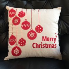 Unique designed Christmas Bauble Merry Christmas Cushion Pillow Made to Order Can be personalised by FredasBarn on Etsy & christmas bauble cushions - Google Search | PILLOW | Pinterest ... pillowsntoast.com