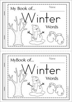Book of. Winter Words My Book of. Winter WordsMy Book of. Preschool Themes, Preschool Classroom, Preschool Learning, Early Learning, Preschool Education, Winter Words, Teaching Reading, Reading Fluency, Reading Activities